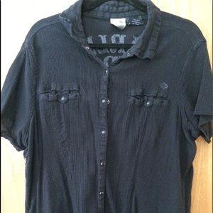 Harley Davidson button up short sleeve shirt